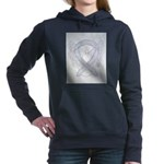 Gray Ribbon Angel Women's Hooded Sweatshirt