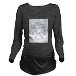 Gray Ribbon Angel Long Sleeve Maternity T-Shirt