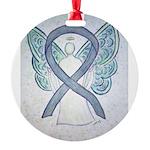 Gray Ribbon Angel Ornament