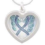 Gray Ribbon Angel Necklaces
