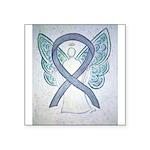 Gray Ribbon Angel Sticker