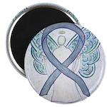 Gray Ribbon Angel Magnets