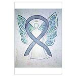 Gray Ribbon Angel Posters