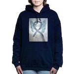 Gray Ribbon Angel Women's Hooded Sweatshirt