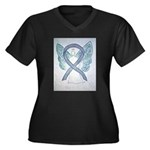Gray Ribbon Angel Plus Size T-Shirt