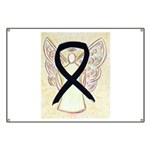 Black Ribbon Angel Banner
