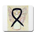Black Ribbon Angel Mousepad