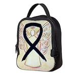 Black Ribbon Angel Neoprene Lunch Bag