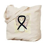 Black Ribbon Angel Tote Bag