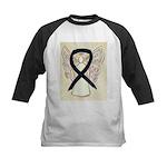 Black Ribbon Angel Baseball Jersey