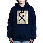 Black Ribbon Angel Women's Hooded Sweatshirt