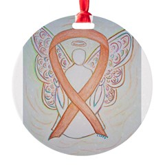 Gold Ribbon Angel Ornament