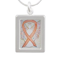 Gold Ribbon Angel Necklaces