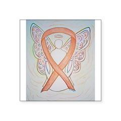 Gold Ribbon Angel Sticker