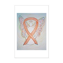 Gold Ribbon Angel Posters