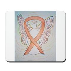 Gold Ribbon Angel Mousepad