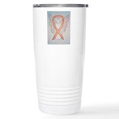 Gold Ribbon Angel Travel Mug
