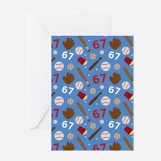 Baseball Number 67 Greeting Card