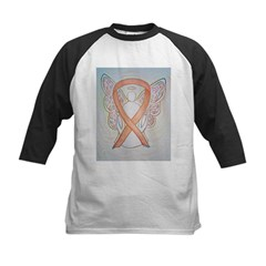 Gold Ribbon Angel Baseball Jersey