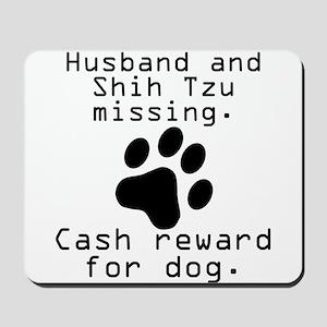 Husband And Shih Tzu Missing Mousepad