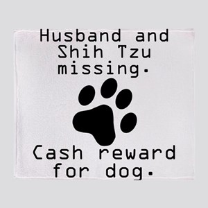 Husband And Shih Tzu Missing Throw Blanket