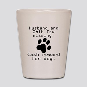 Husband And Shih Tzu Missing Shot Glass