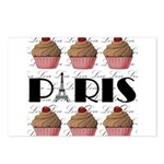 Paris Cupcakes Postcards (Package of 8)