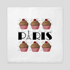 Paris Cupcakes Queen Duvet