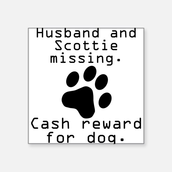 Husband And Scottie Missing Sticker