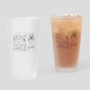 Model T Blueprints Drinking Glass