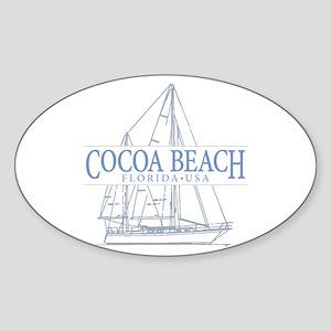 Cocoa Beach - Sticker (Oval)