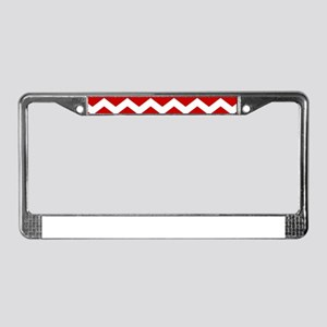 Chevron Christmas Pattern License Plate Frame