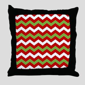 Chevron Christmas Pattern Throw Pillow
