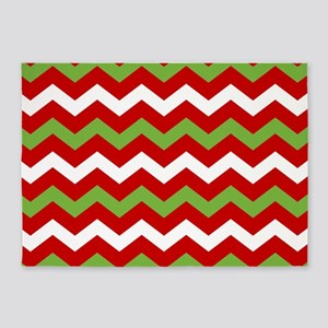 Chevron Christmas Pattern 5'x7'Area Rug