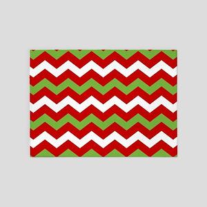 Chevron Christmas Pattern 5'x7'Area Rug