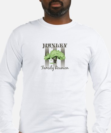 MANLEY family reunion (tree) Long Sleeve T-Shirt