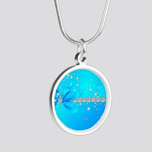 Frozen Snowflakes Silver Round Necklace