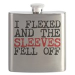 I flexed and the sleeves fell off Flask