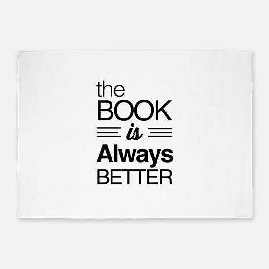 The book is always better 5'x7'Area Rug