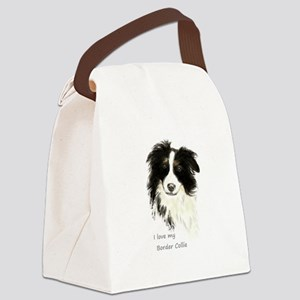 I love my Border Collie Pet Dog Canvas Lunch Bag
