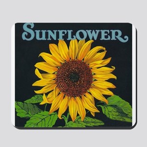 Sunflower Vintage Art Poster Mousepad