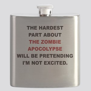 THE HARDEST PART ABOUT THE ZOMBIE APOCALYPSE Flask
