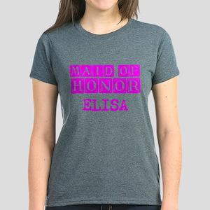 Maid Of Honor Personalized Women's Dark T-Shirt