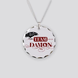 Vampire Diaries Damon red Necklace Circle Charm