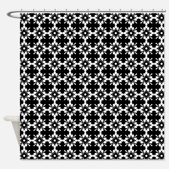 Abstract Graphic Tile Pattern Shower Curtain