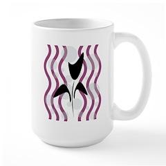 Sparkling Black Tulip Large Mug