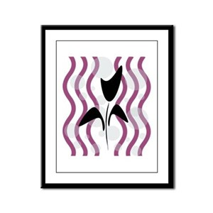 Sparkling Black Tulip Framed Panel Print
