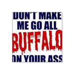 Buffalo Football Square Sticker 3