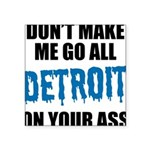 Detroit Football Square Sticker 3
