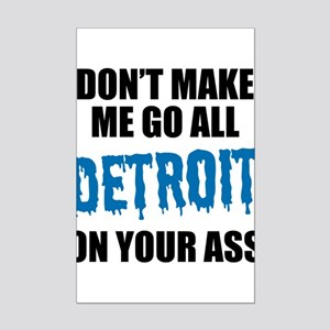 Detroit Football Mini Poster Print